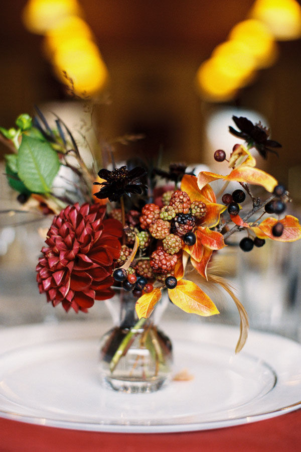 berry wedding centerpiece
