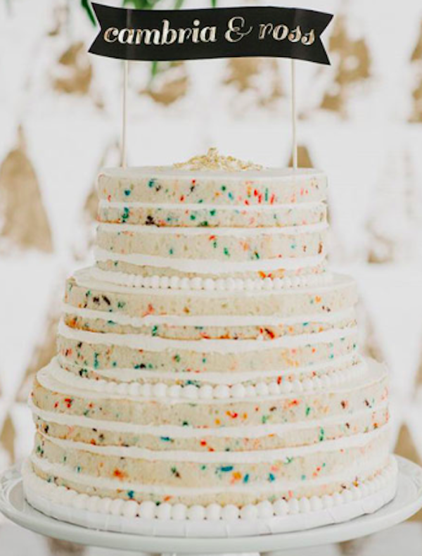 Sprinkle wedding cakes