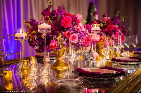luxurious wedding table