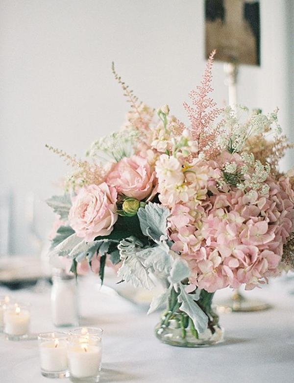faux pink arrangement
