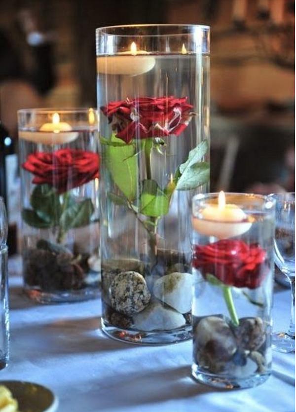 floating wedding centerpiece