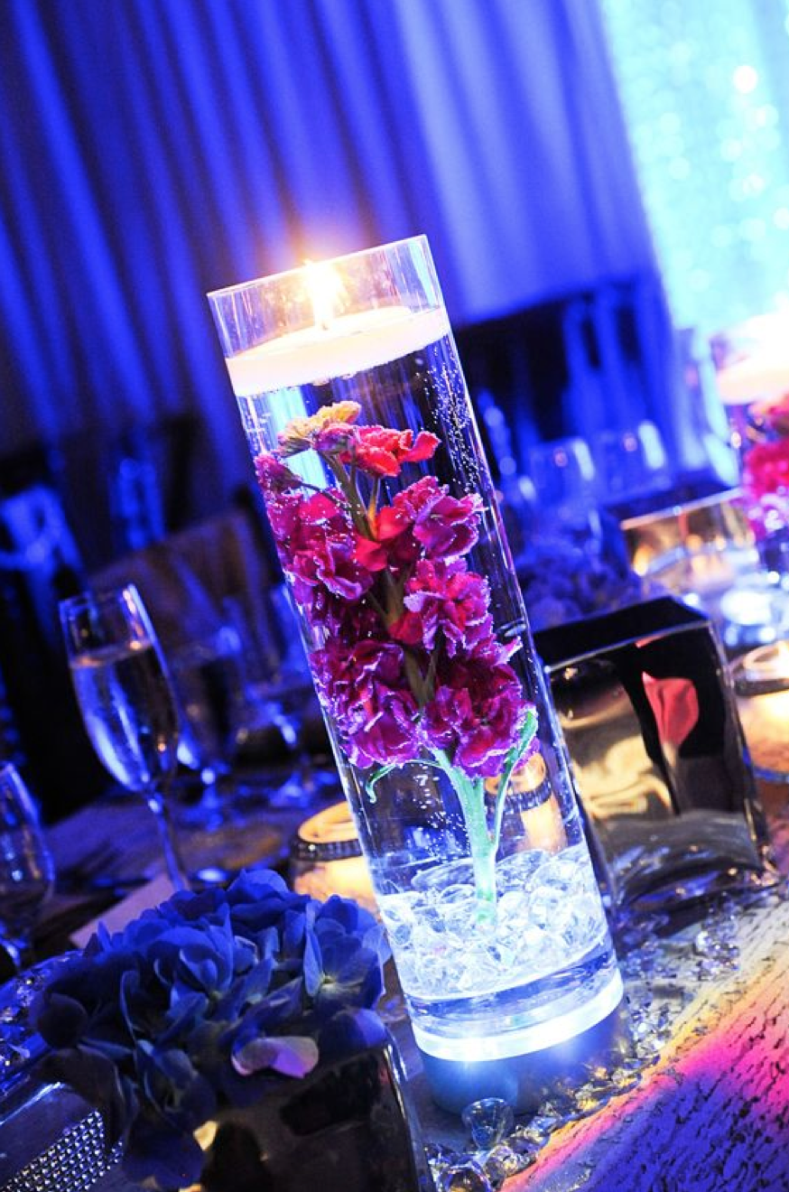 glowing floating centerpiece