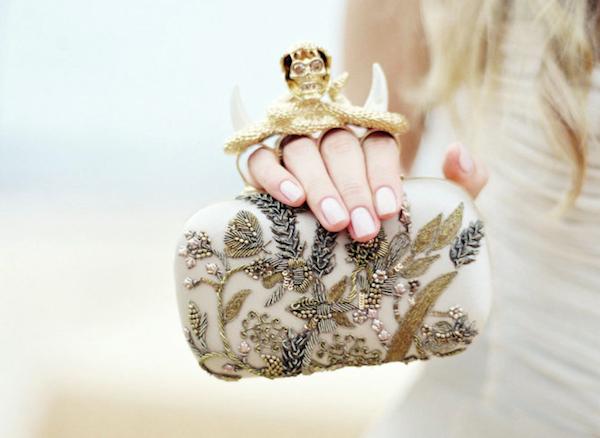 Flower wedding clutch