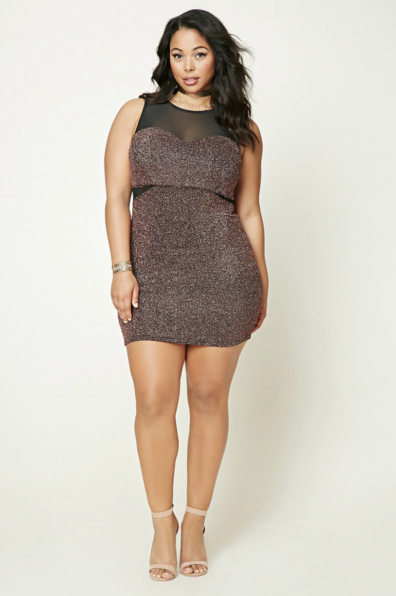 plus size sparkly dress