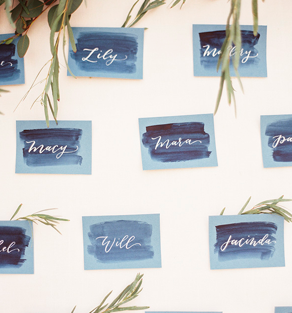 Watercolor Seating Cards