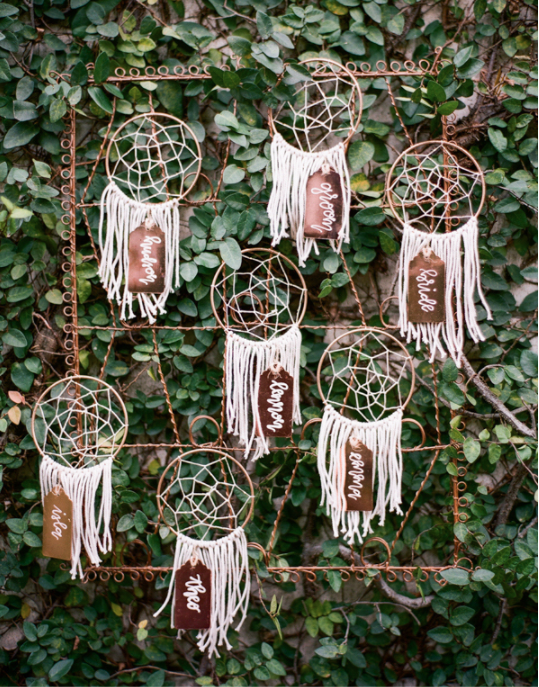Dream Catcher Seating Cards
