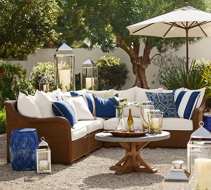 Palmetto All-Weather Wicker Sectional via Pottery Barn