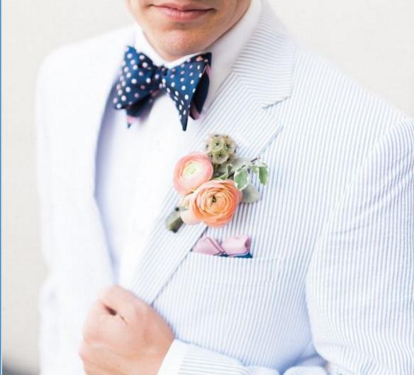 Seersucker groom's suit