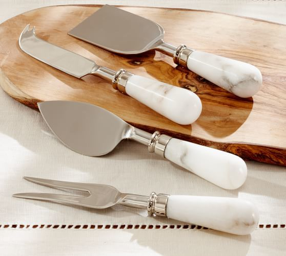 Marble Cheese Knives Set of 4