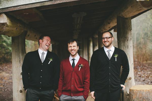 cabin wedding groom