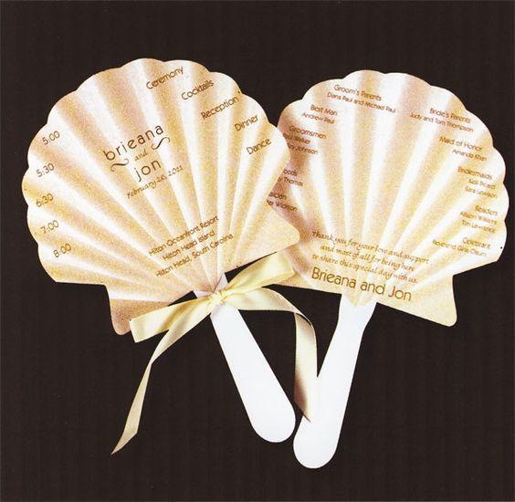shell wedding program