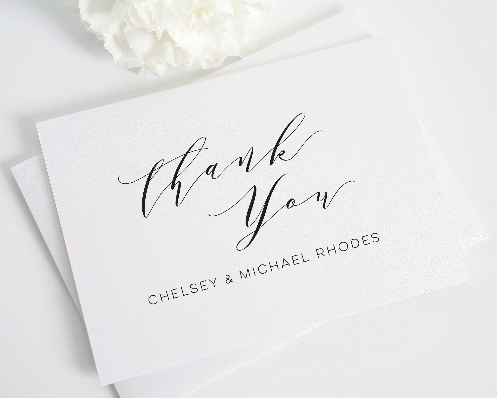 minimalist wedding thank you