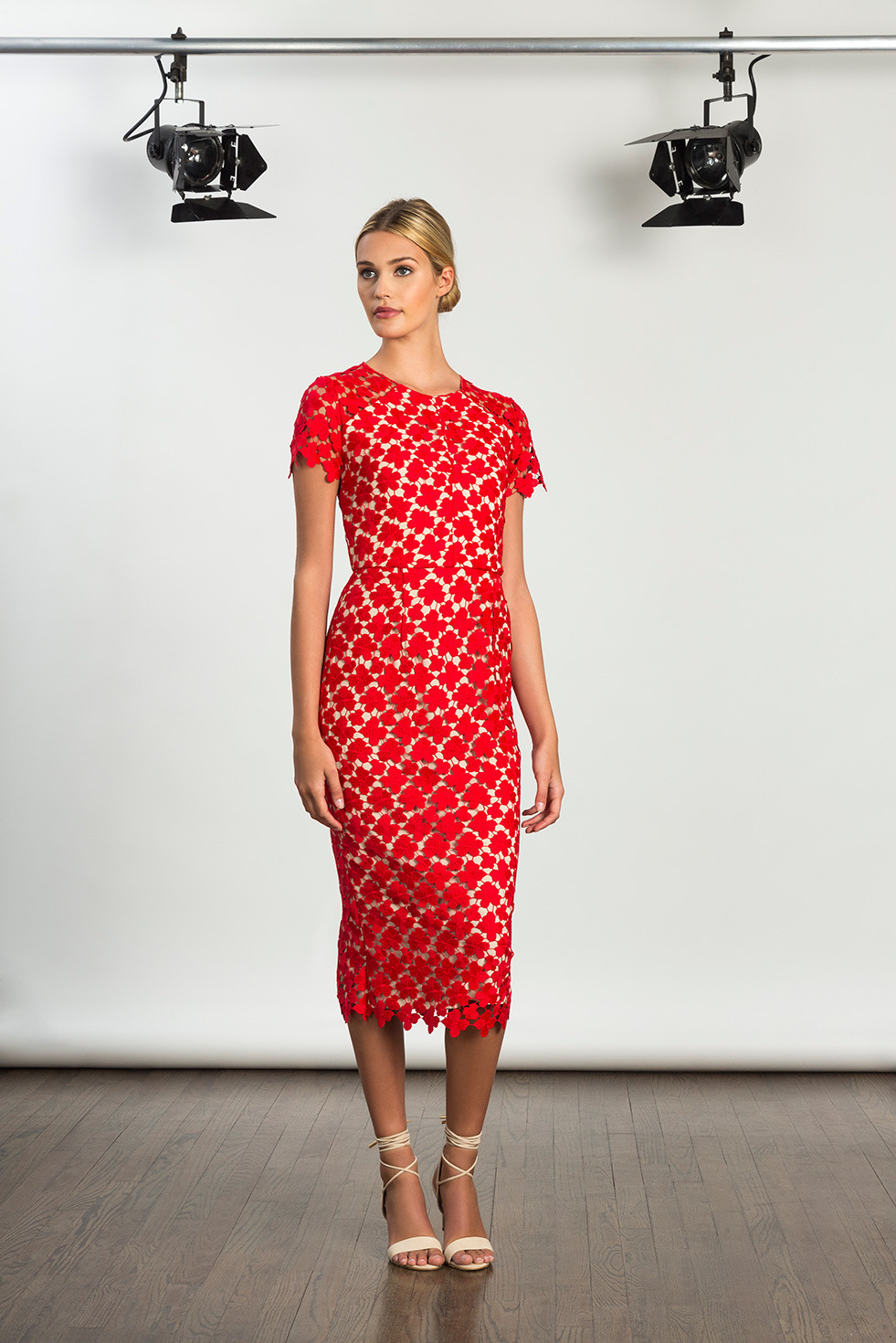 red MOB dress