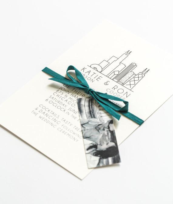simple urban wedding invitation