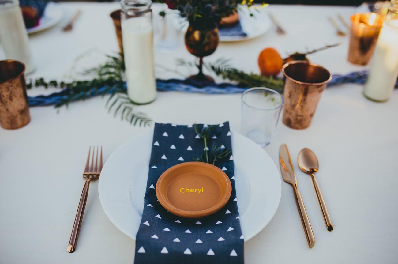 Rustic Desert Table Setting
