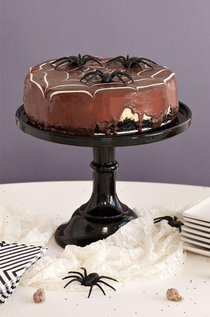 spiderweb chocolate cheesecake