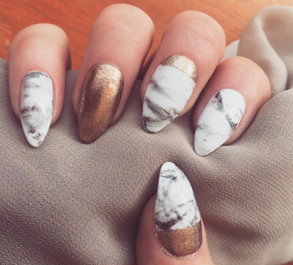 Marble nails