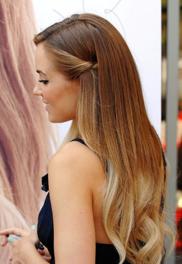 Straight hairstyles for weddings