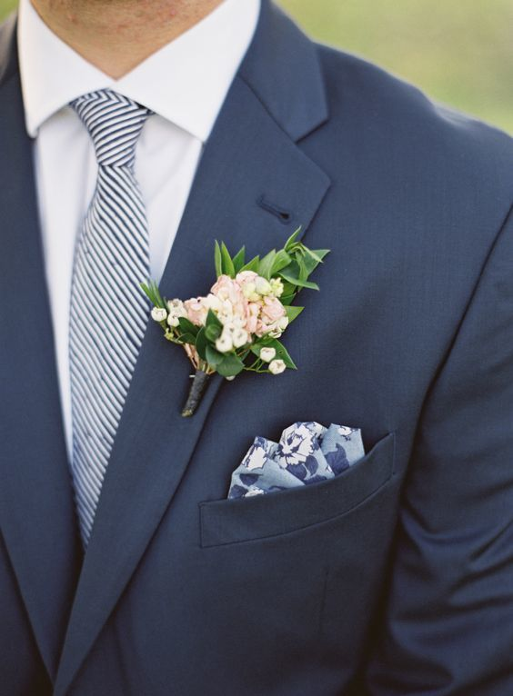 stripe blue tie