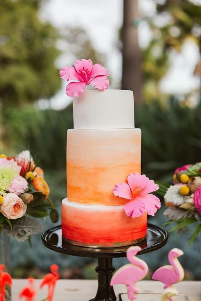 bright ombre cake