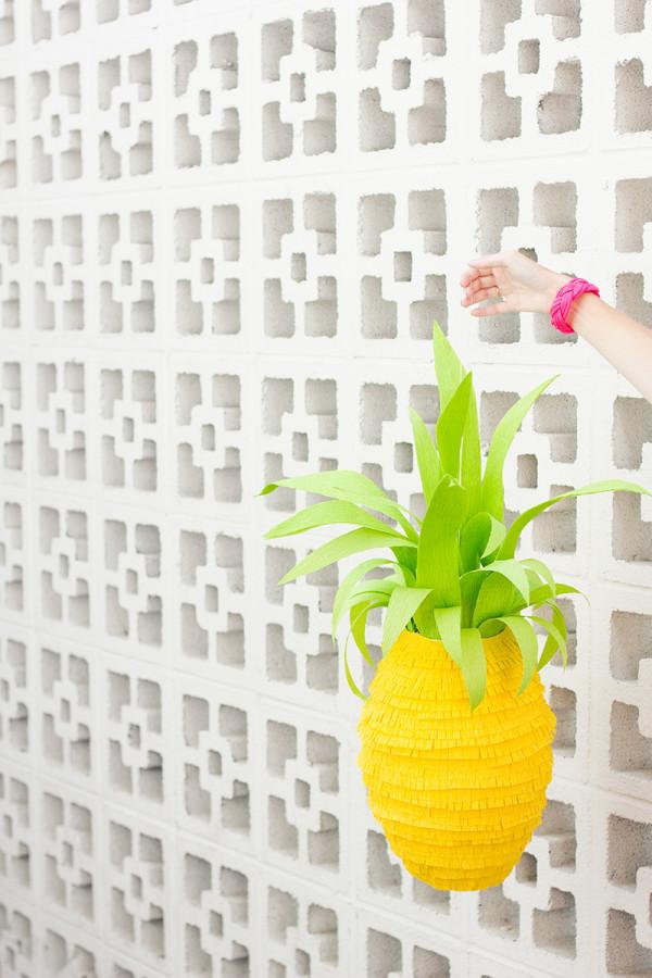 DIY Pineapple Pinata by Studio DIY