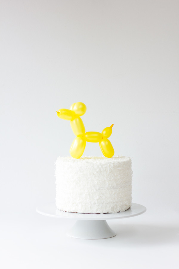 balloon animal cake topper