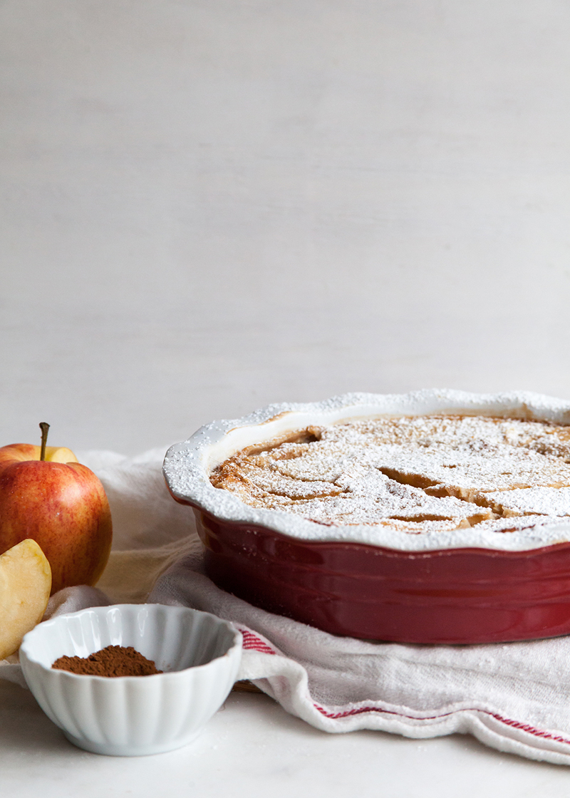 French apple clafoutis