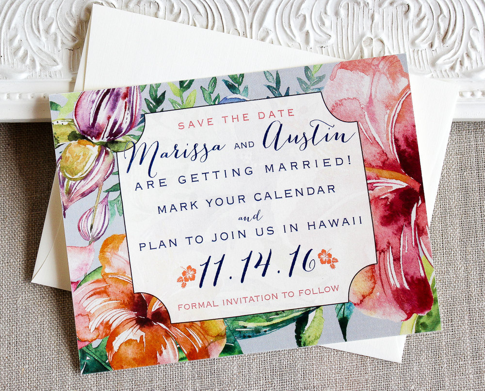 tropical save the date