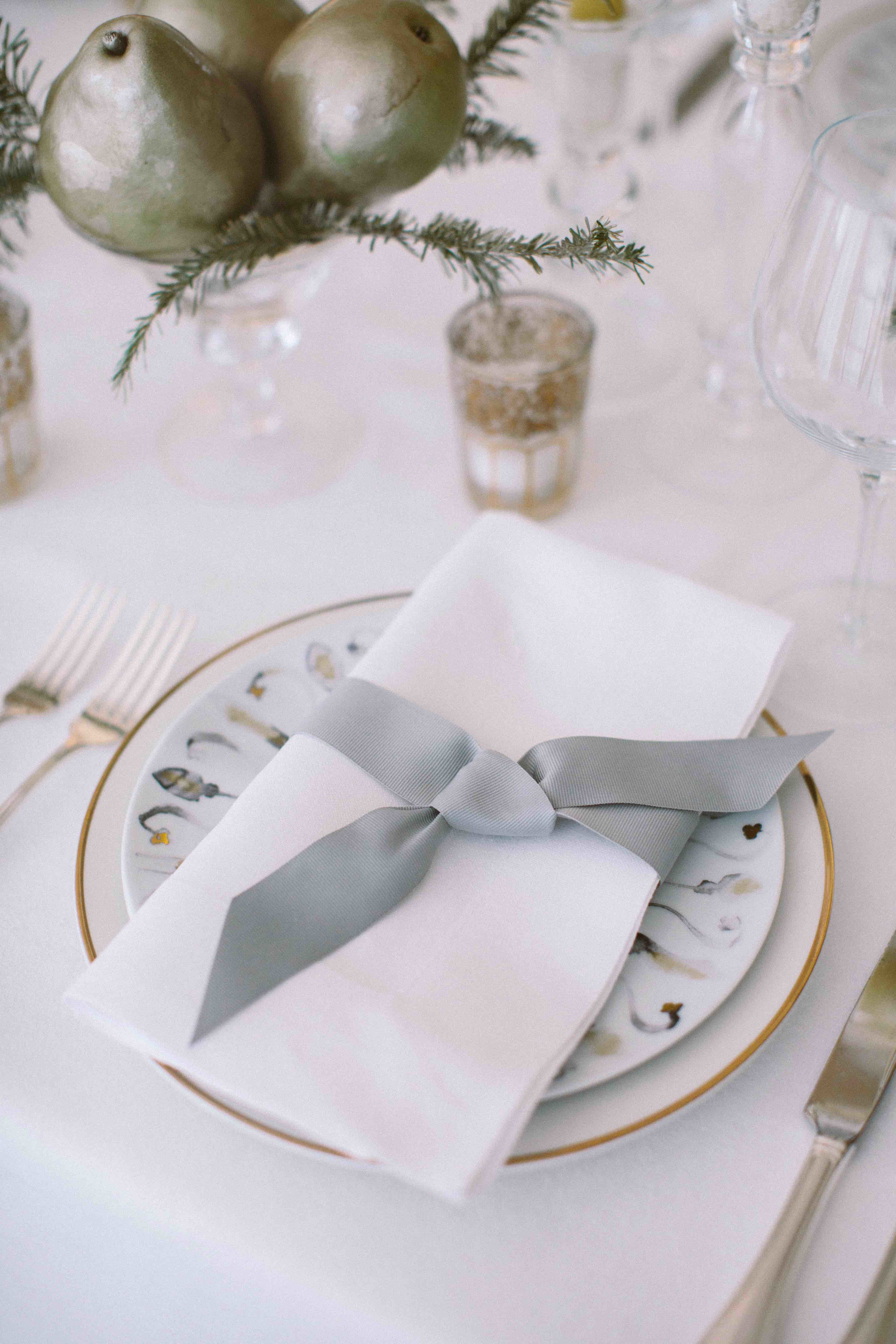 Nickel and Gold Place Setting