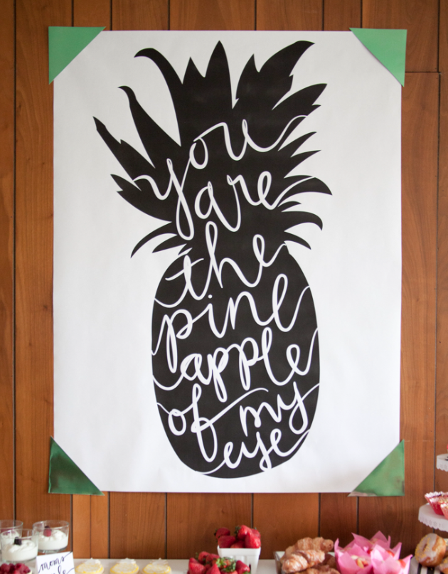You Are the Pineapple of My Eye Sign by The Alison Show