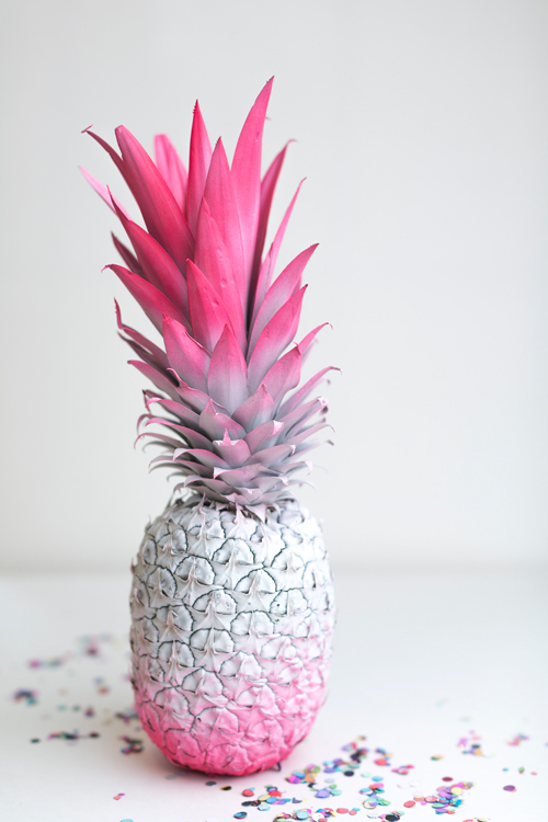 DIY Ombre Pineapple Centerpiece via The House That Lars Built