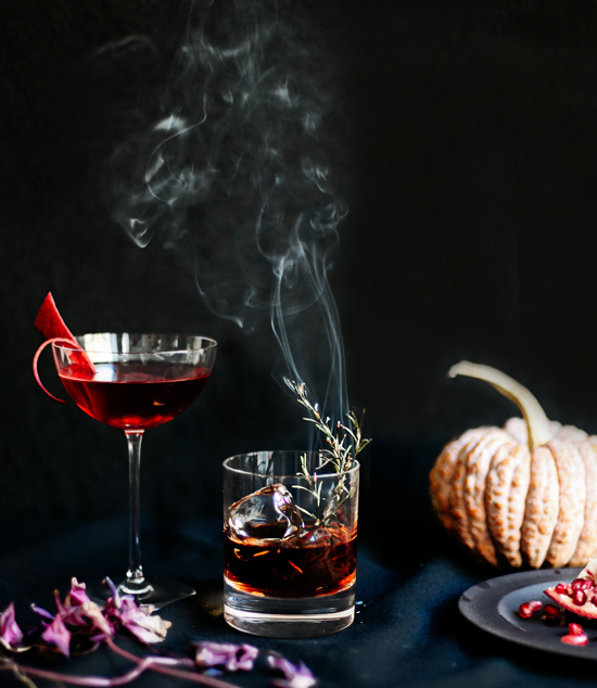 smoking fall cocktail