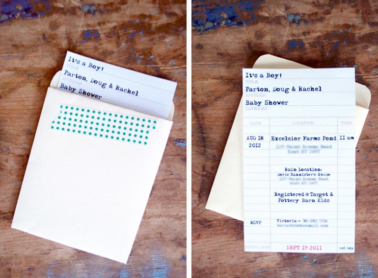 book themed invitation