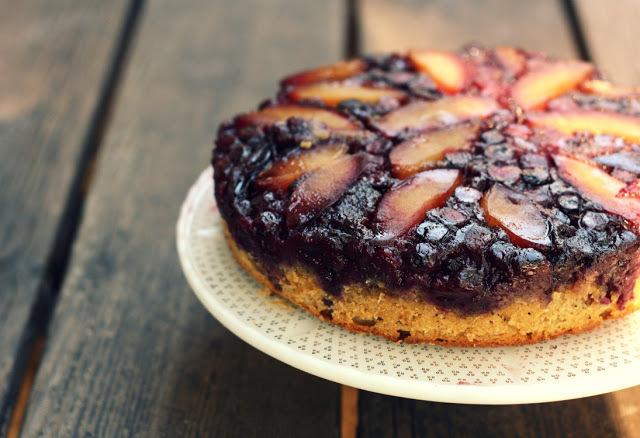 plum blueberry cake