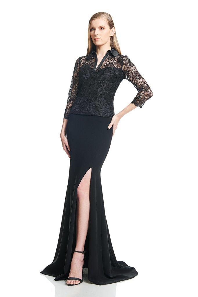 black MOB dress