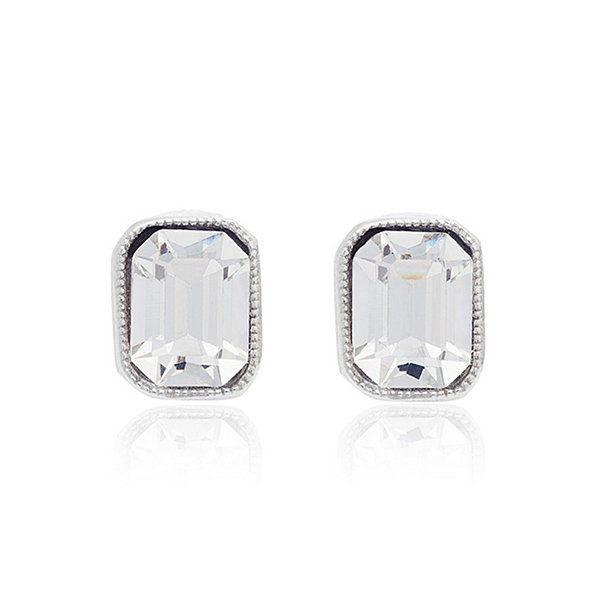 Classic Hollywood Crystal Stud Earrings