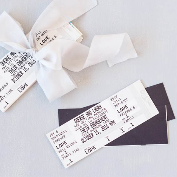 Personalized Wedding Save The Date Ticket Magnet