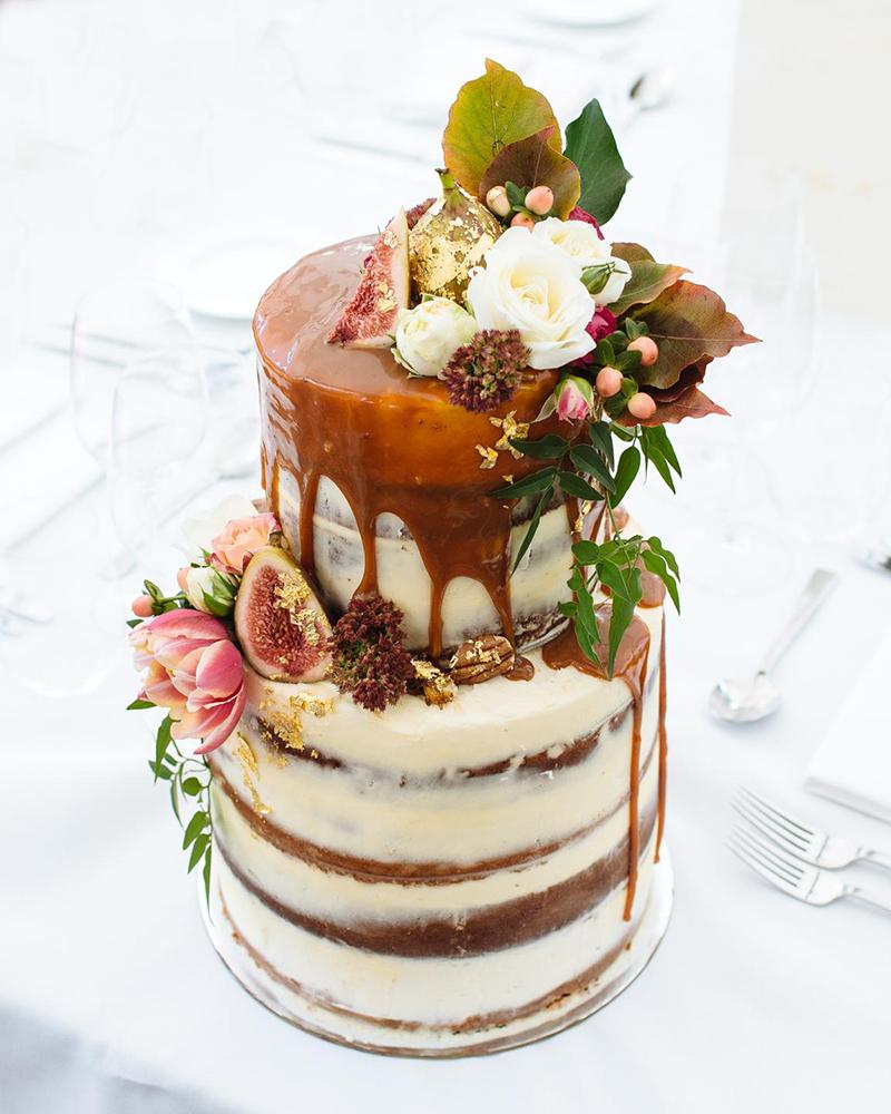 rich wedding cake