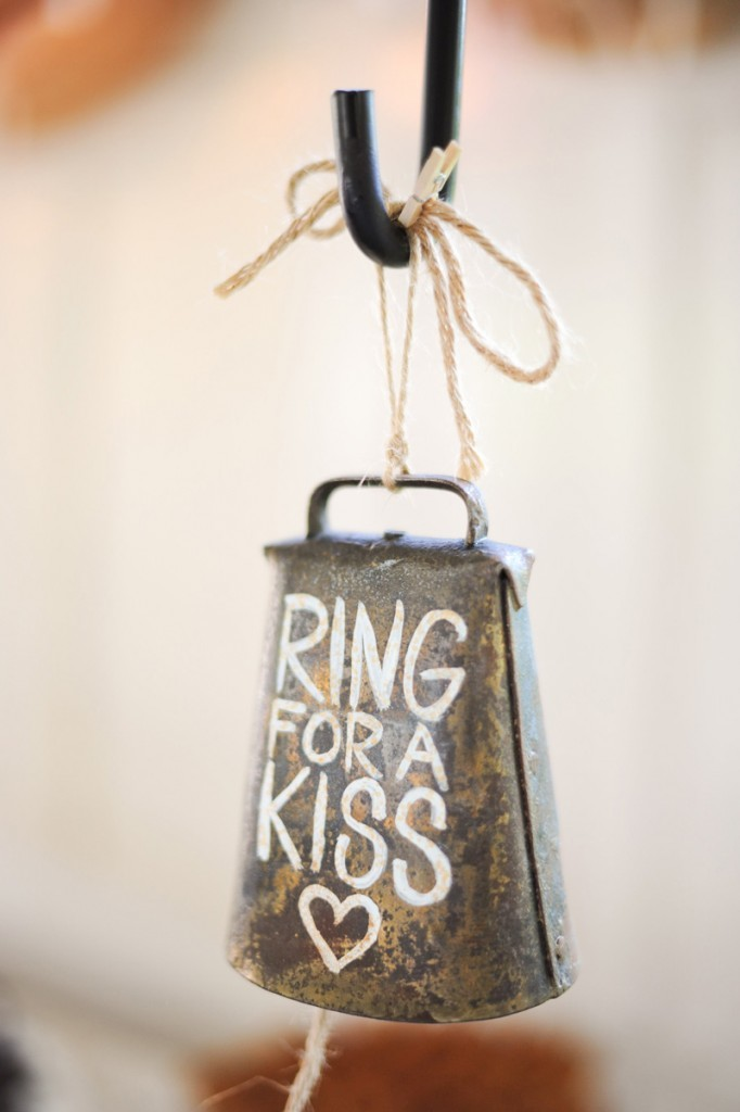 DIY Cowbell Decoration for Barn Wedding by Tulle & Chantilly