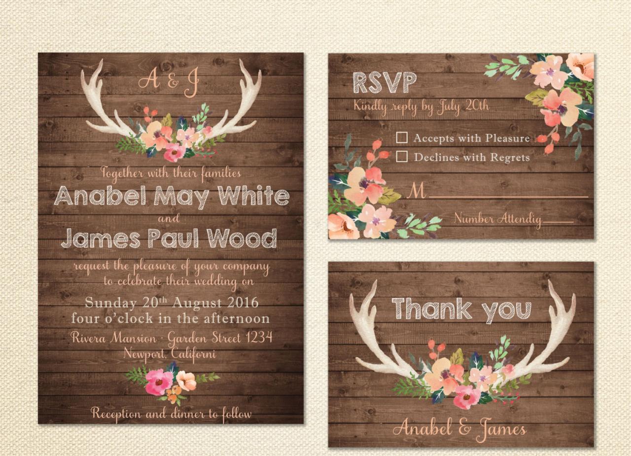 Antler Invitations