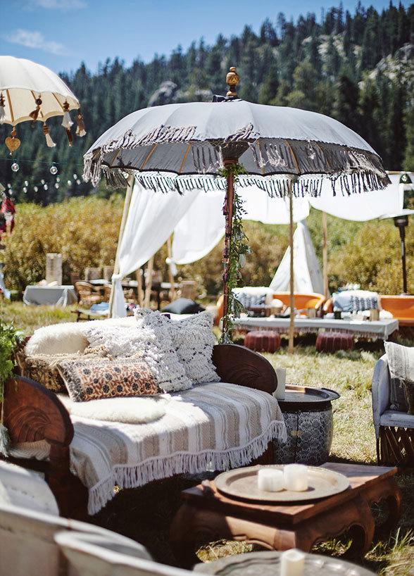 umbrella tent wedding