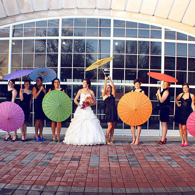 Rainbow Colored Umbrellas