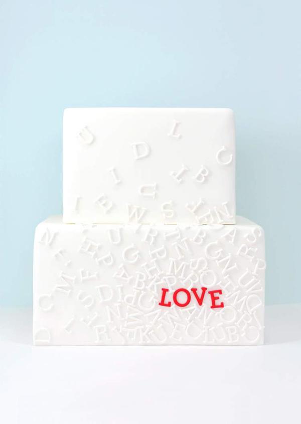 alphabet wedding cake