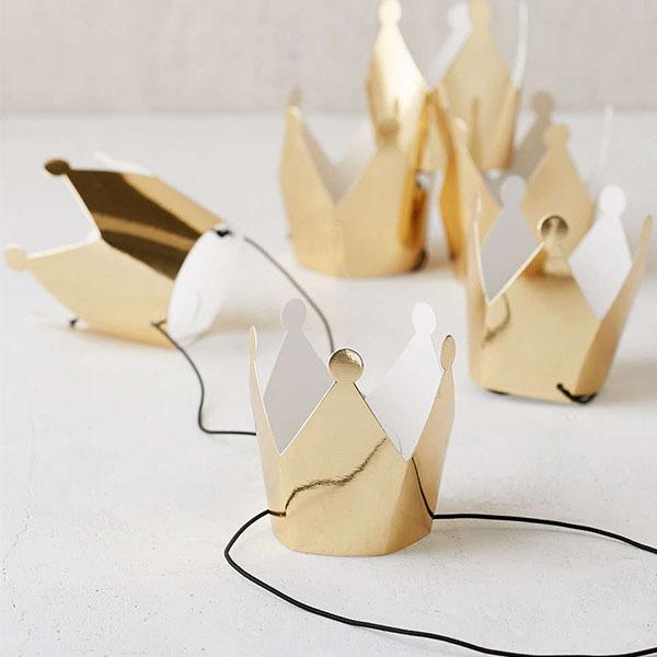 mini gold crowns