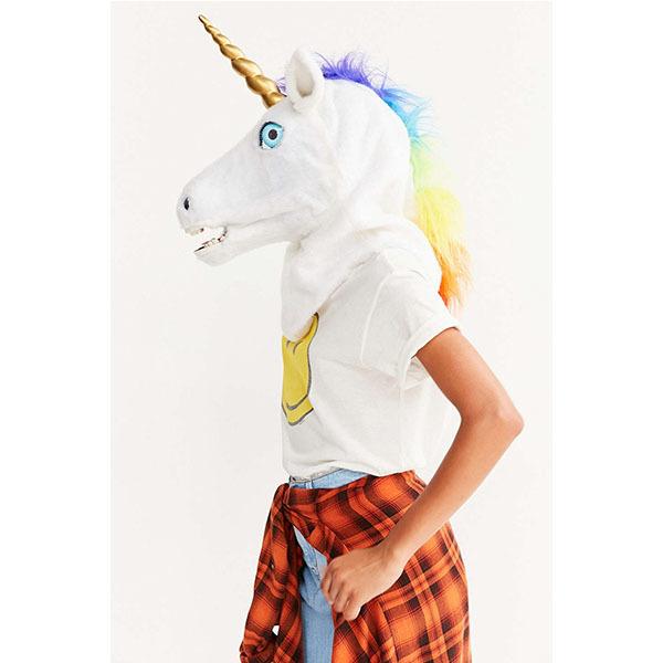 talking unicorn mask
