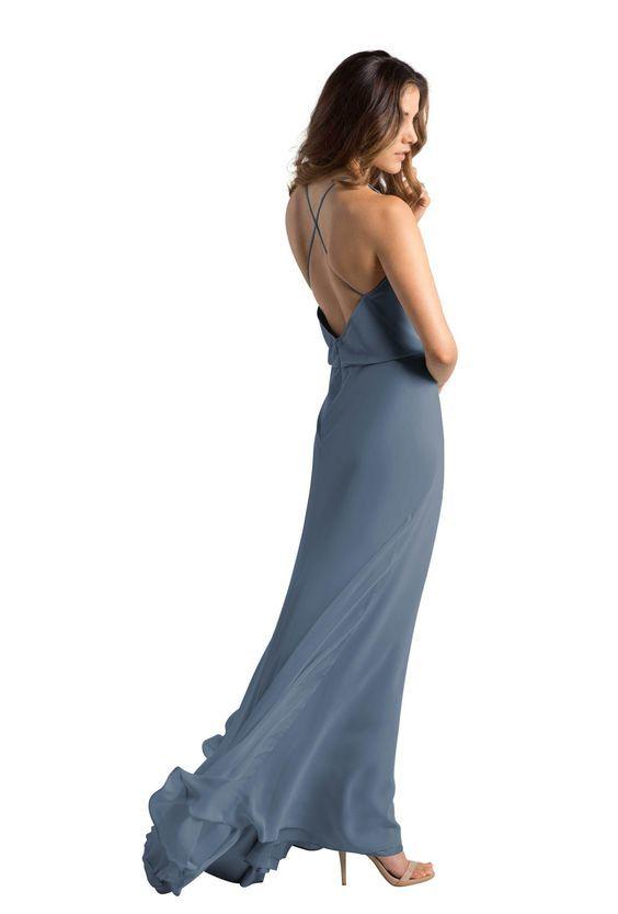 floor length gray dress