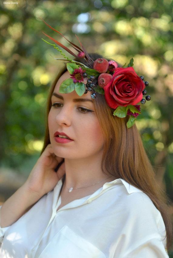 pomegranate flower crown