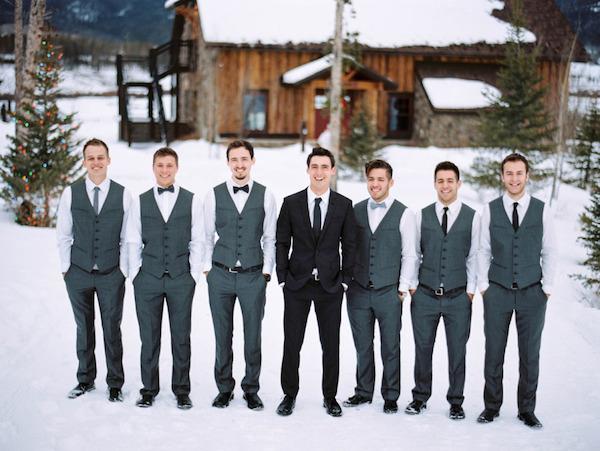 Waistcoats and bowtie grooms wear combination