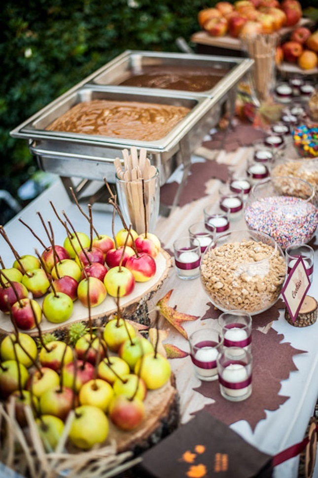 wedding caramel apples