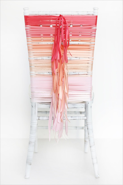 DIY Ombre Wedding Chair via Want That Wedding